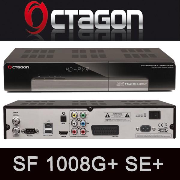 OCTAGON SF 1008G+ SE+ CI+ Full HD Intelligence Sat Receiver USB LAN DVB-S2 1008 G+