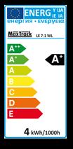 Transmedia LED Lampe warm weiß 2800-3000K, 230 V, 3,5 W LE7-1W