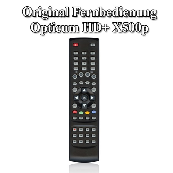 Original Fernbedienung für Optiqum HD X500 x 500 Opticum Remote Control FB Neu