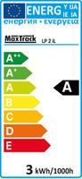 Power LED 230 V, GU 10 Sockel, 3 W, Economy Type, warm weiß 3800K – Bild 2