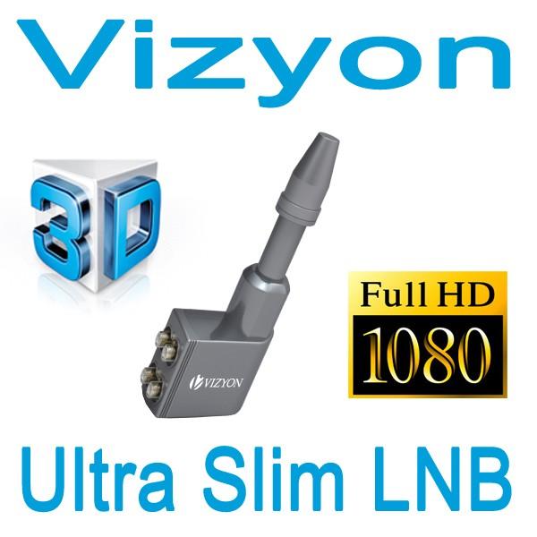 Vizyon Multi Slim Quad LNB Digtal HDTV 4K UHD Full Multifeed Schmall Sat