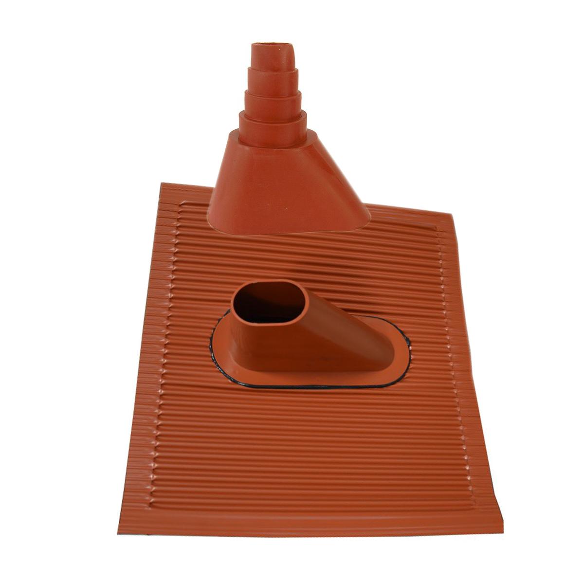 PremiumX BASIC X120-48 SAT Teleskop-Dachsparrenhalter 120cm Mast 48mm ALU-Ziegel Manschette rot