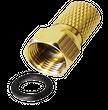 100 x F-Stecker 7mm goldfarbige Stecker schraubbar Breite Mutter Wasserschutz Gummidichtung Dichtring  001