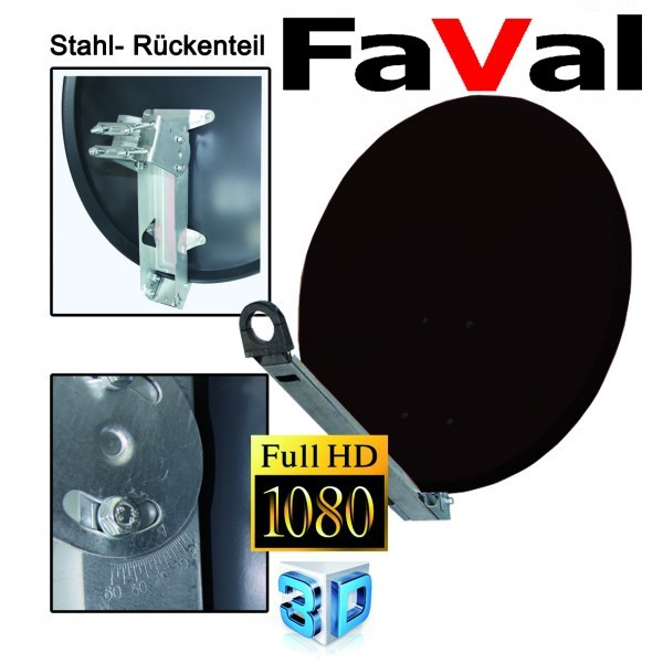 FaVal XTS85 Satellitenantenne 85 cm Stahl Anthrazit