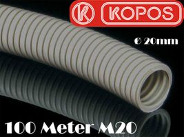 100m 2x50m M20 Kopos 20mm Kabelschutzrohr Elektrorohr Installationsrohr Wellrohr flexibel grau leichte Druckbeanspruchung – Bild 2