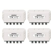 4x DiseqC-Schalter 4/1 Edision mit Wetterschutzgehäuse DVB-S/DVB_S2 SAT DIGITAL FullHD 3D und HDTV fähig NEU