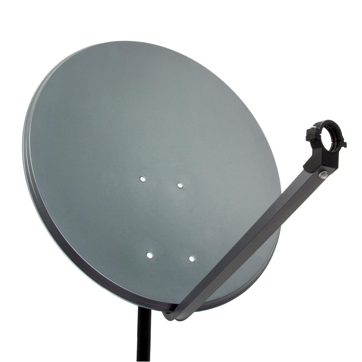 PremiumX PXS60 Satellitenschüssel 60cm Stahl Anthrazit Satellitenantenne SAT Spiegel