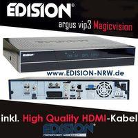 Edision Argus VIP 3 Magicvision Digital HDTV Twin Sat Receiver 2x DVB-S2 Tuner eingebaut NEU – Bild 2