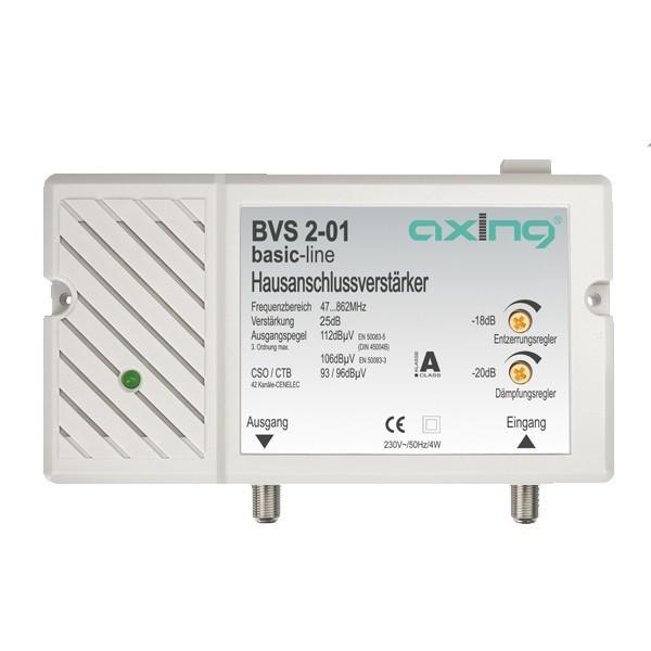 Axing BVS 2-01 Basic-line Hausanschlussverstärker 25 dB ohne Rückkanal BK-Verstärker