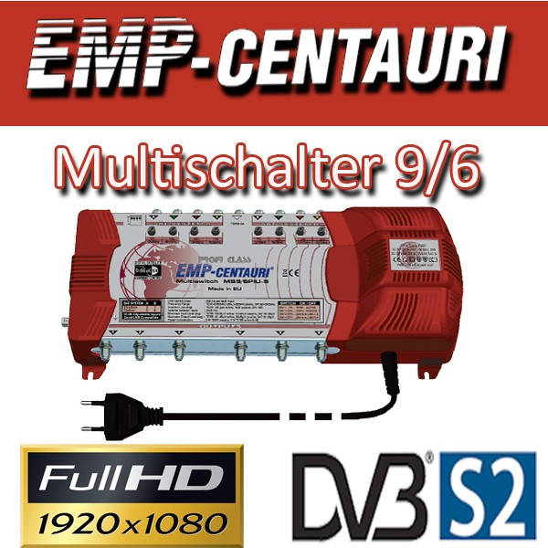 EMP Centauri Sat Multischalter 9/6 Profiline Multiswitch Switch Matrix FULLHD 3D Digital Quad Tauglich