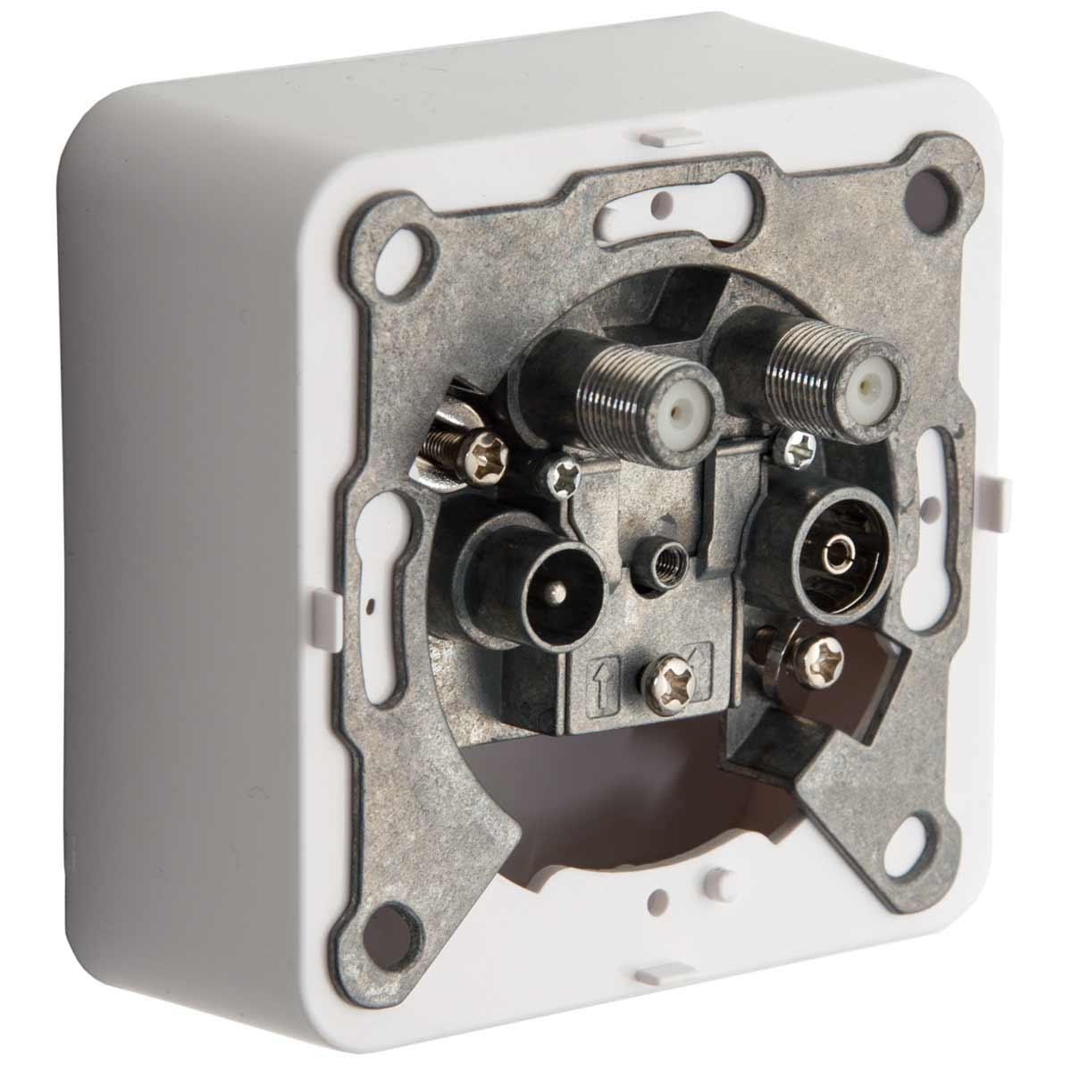 5x PremiumX PX-4 Sat Dose 4 Fach Enddose TWIN Antennendose CLASS A 2x Sat, 1x Radio, 1xTV DIGITAL FULLHD 3D