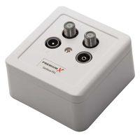 5x PremiumX PX-4 Sat Dose 4 Fach Enddose TWIN Antennendose CLASS A 2x Sat, 1x Radio, 1xTV DIGITAL FULLHD 3D  – Bild 3