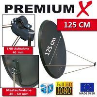 PremiumX PXS125 Satellitenantenne 125 cm Stahl Anthrazit – Bild 2