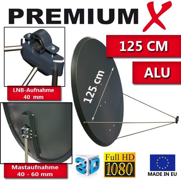PremiumX PXA125 Satellitenantenne 125 cm Aluminium Anthrazit