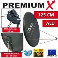 PremiumX PXA125 Satellitenantenne 125 cm Aluminium Anthrazit – Bild 4