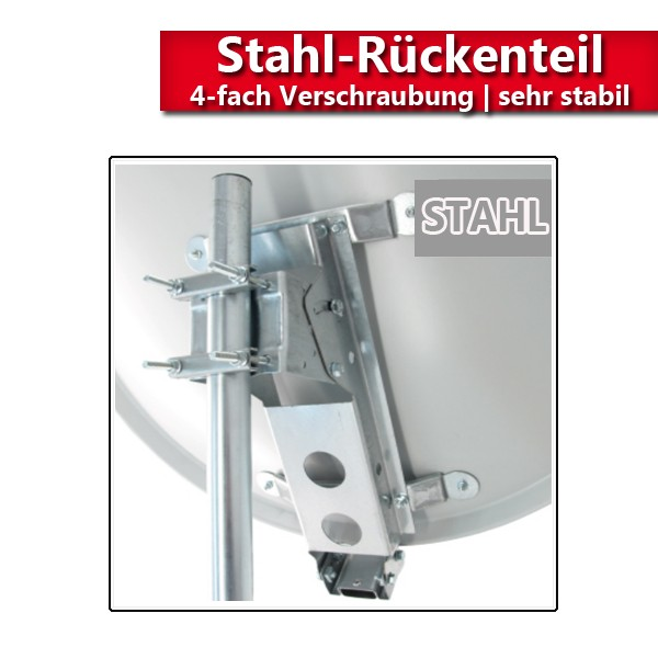 PremiumX XTS100 Satellitenantenne 100 cm Stahl Hellgrau