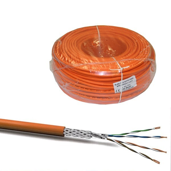 50m cat 7 kabel netzwerkkabel installationskabel verlegekabel cat7 datenkabel orange 1000mhz neu. Black Bedroom Furniture Sets. Home Design Ideas