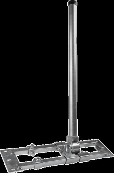 Dachsparrenhalter Herkules mit 90cm Mast, ausziehbar S60-90, Stahl, Mastdurchmesser 60mm + Mastkappe mit Kabeleinführung + Universal Gummimanschette für Dachabdeckungen Schwarz + 4x Schrauben zur Montage an den Sparren TOP Angebot