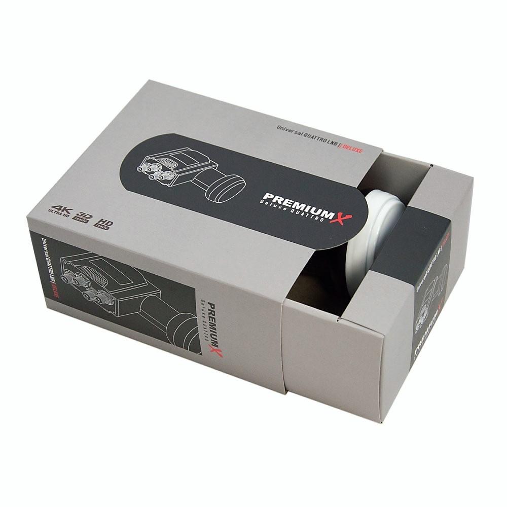 Multischalter PremiumX PXMS-5/8 Multiswitch 5/8 mit Netzteil + Deluxe Quattro LNB 0,1dB 40mm Digital FULLHD 3D1x SAT für 8 Teilnehmer TOP
