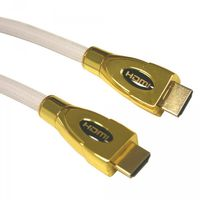 1m HDMI Kabel PremiumX 1,4 High Speed HDMI Cable Weiss Vergoldete Stecker FULLHD 3D Ultra HD TOP !!!
