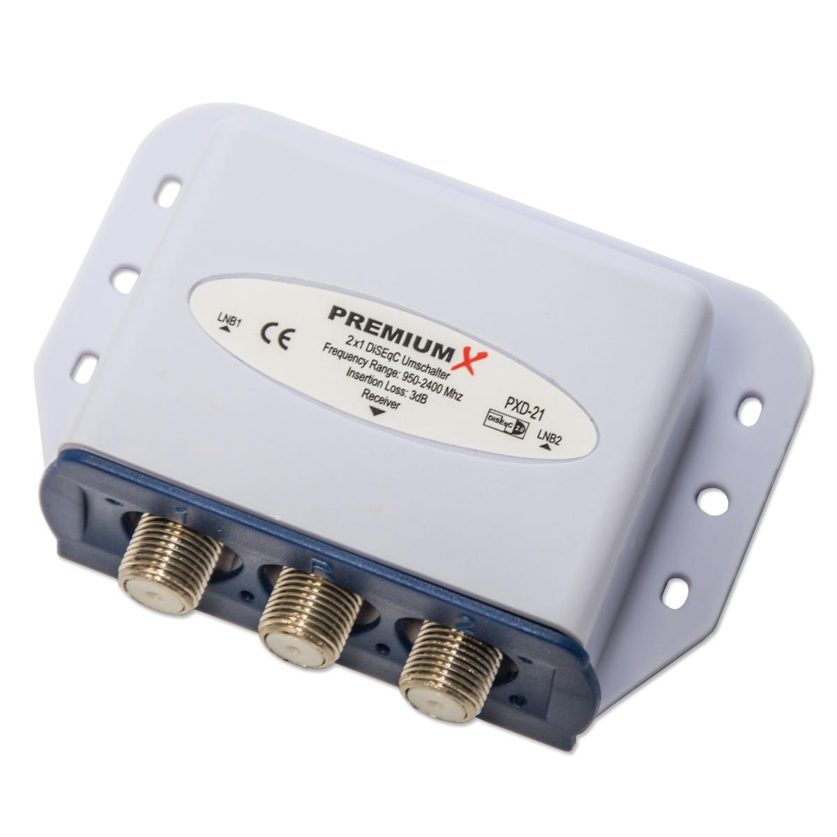 2x Opticum Red Rocket Twin LNB 0,1 dB 3 Grad Astra Hotbird Eutelsat HDTV HD FULLHD 3D + 2x 2/1 DiseqC Schalter TOP für Eutelsat oder 3 ° Grad Sat Anlagen