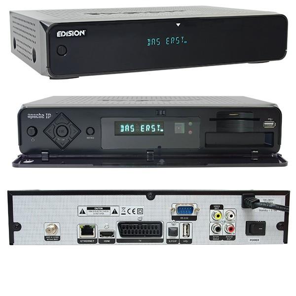 Edision Apache IP DVB-S2 Receiver + Game USB Controller + USB Stick - 600 Spiele