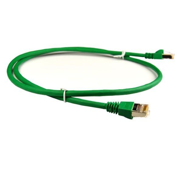 Telegärtner MP8 FS 600 MHz CAT7 Netzwerk Kabel - L00001A0085 1,5 Meter - Grün
