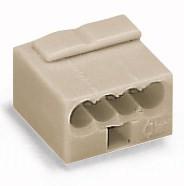 100 Stück WAGO MICRO-Verbindungsdosenklemme; 4-Leiter-Klemme, 243-304
