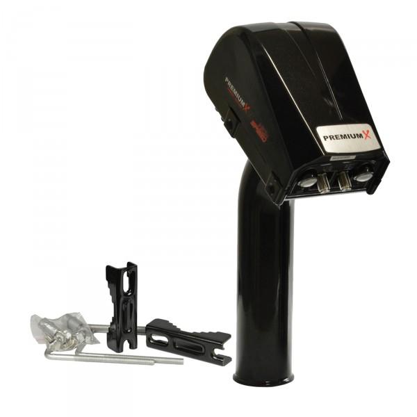 PremiumX Sat Motor DiSEqC Motor Antennen Motor 1.3 PXM-SLED mit Stahl Hauptzahnrad und LED Display für Antenne bis 120cm FULLHD kompatibel mit allen DiSEqc 1.2 Receivern