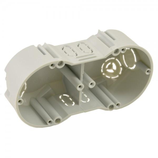 2x Kopos 2-Fach Gerätedose Unterputz Grau Elektro Dose Installation