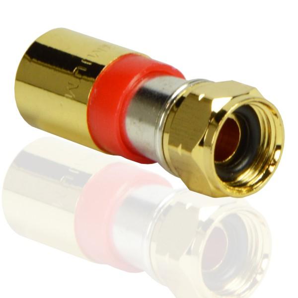 PremiumX Kompressionsstecker XCon G2 F-Kompressionstecker 7,5mm für SAT Kabel Koaxialkabel 120db 130db 135db
