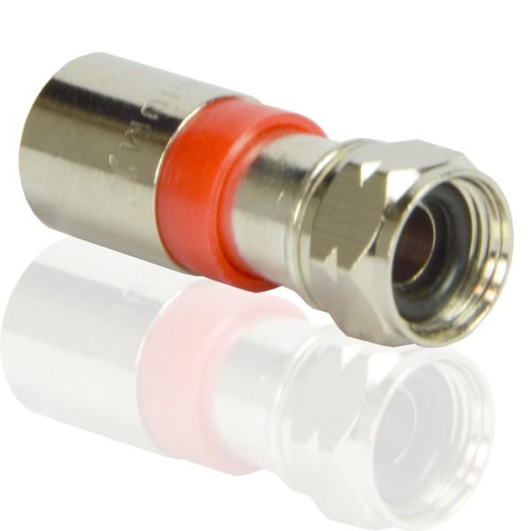 PremiumX Kompressionsstecker XCon S2 F-Kompressionstecker 7 bis 7,5mm für SAT Kabel Koaxialkabel 120db 130db 135db