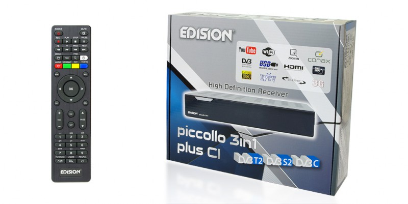 Edision piccollo 3in1 plus CI HDTV Digital Sat Receiver Full HD USB DVB-S2