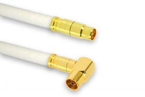 10m PremiumX TV Antennenkabel Digital Innenleiter REINES KUPFER mit vergoldeten Kompressionsstecker TV-GM1 (männlich) + TV-GF1-90 (90° weiblich) | PREMIUM HDTV Kabel | Koaxialkabel | Stecker zu Buchse