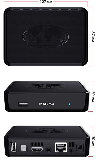 MAG 254 IPTV OTT Set Top Box Original Multimedia Player Internet TV Box IP MAG254