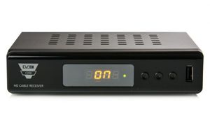 Opticum C200 HDTV Kabelreceiver (HDMI, Full HD 1080p, EPG, SCART, USB) schwarz