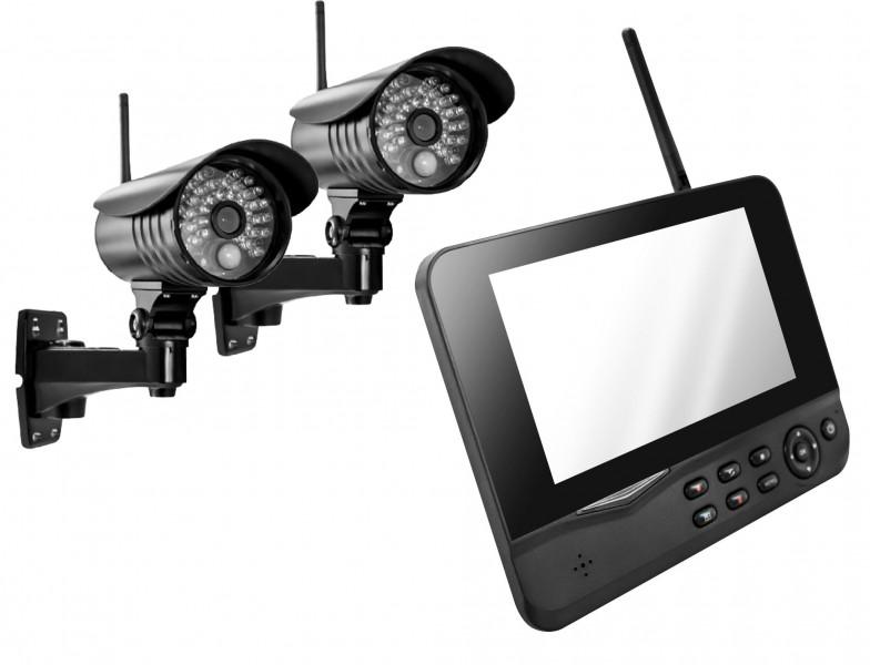 MT Vision - Videosystem 4-Kanal Funk Videoüberwachung Überwachungssystem Funküberwachung 2 Kamera VIDEO