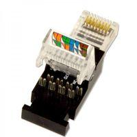 20x PremiumX Netzwerk Stecker RJ45 Tooless Plug für Cat5e Verlegekabel, Montage ohne Werkzeug