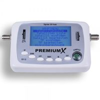 PremiumX Digitaler Sat Finder PXF-33 mit LCD-Display Satellitenerkennung und Kompass