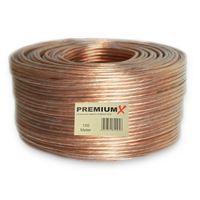 100m 2x4,0 mm² Boxenkabel Transparent Lautsprecherkabel CCA Kupfer PremiumX – Bild 1