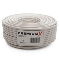 PremiumX PROFI PRO Kupfer Koaxial Kabel135dB 5-Fach geschirmt 50 Meter SAT Antennenkabel NEU