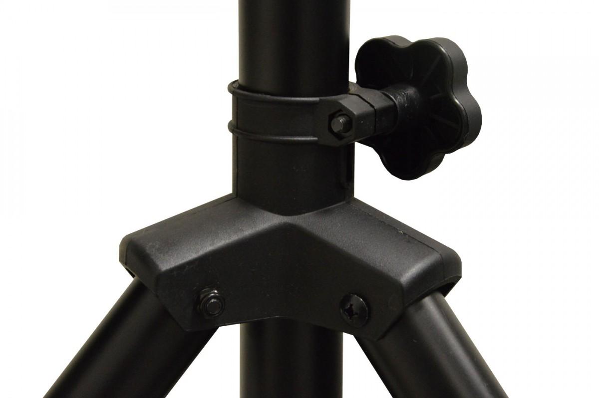 PremiumX Dreibein Stativ DELUXE PRO ALU Ø 32mm 150cm Höhe schwarz SAT Tripod Ständer für Satellitenschüssel bis 85cm Spiegel Balkon Camping inkl. 3x massive Stahl-Heringe