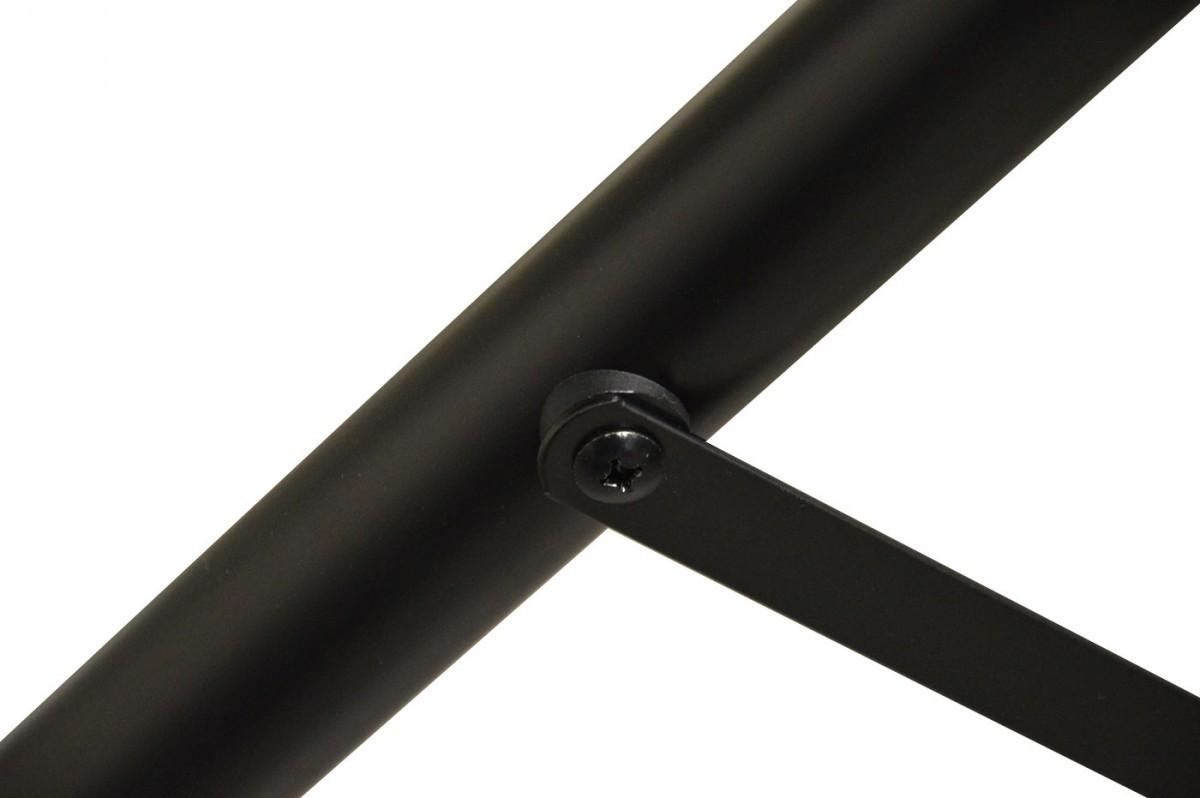 PremiumX Dreibein Stativ BASIC ALU Ø 32mm 120cm Höhe SAT-Ständer für Satellitenschüssel bis 80-85cm Spiegel Camping Balkon Tripod Schwarz inkl. 3x massive Stahl-Heringe