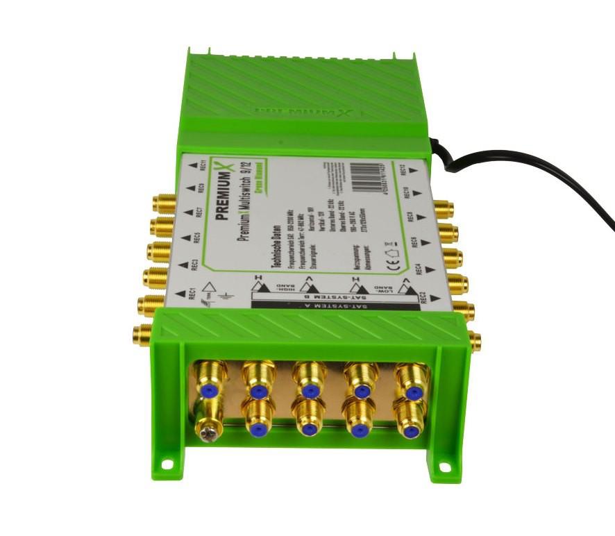 Multischalter PM-ECO 9/12 PremiumX Green Diamond Multiswitch mit Netzteil 2x Sat für 12 Teilnehmer FullHD HDTV UltraHD 3D 4K Verteiler