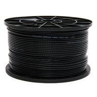 100m PremiumX Mini Koaxial Sat Kabel 4mm extra dünn Schwarz Koax Antennenkabel 2-fach geschirmt für Sat | Kabel | DVB-T – Ultra HD 4K 3D