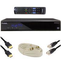 Protek 9900 LX HD IP E2 Linux Sat Receiver inkl. Sat Kabel 1,5 meter mit 2 F-Stecker vormontiert + 5m CAT 5e Patchkabel + 1m HDMI Kabel