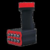 AX Black Buster Premium Octo LNB 0.1 dB FULLHD UltraHD 3D 4K Digital tauglich für 8 Teilnehmer