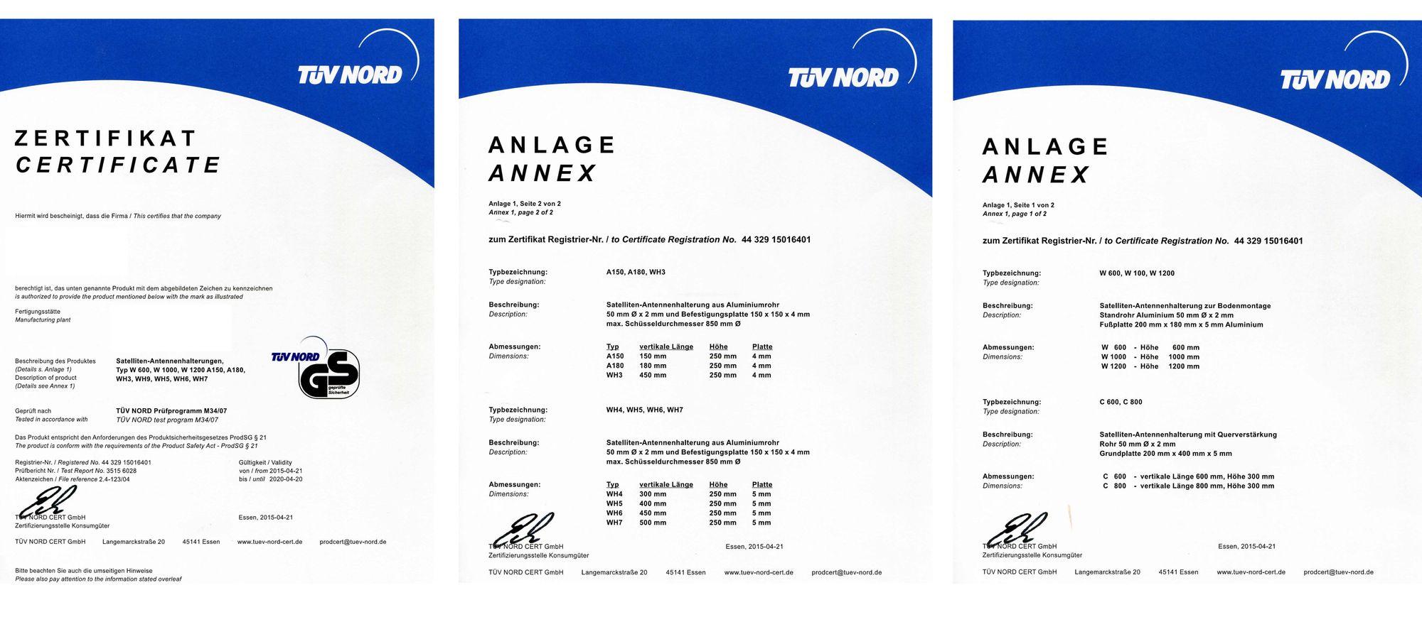 SkyRevolt 35cm Wandhalter ALU TÜV Geprüft Rohr 48mm für Wandmontage Sat Antenne Wandhalterung