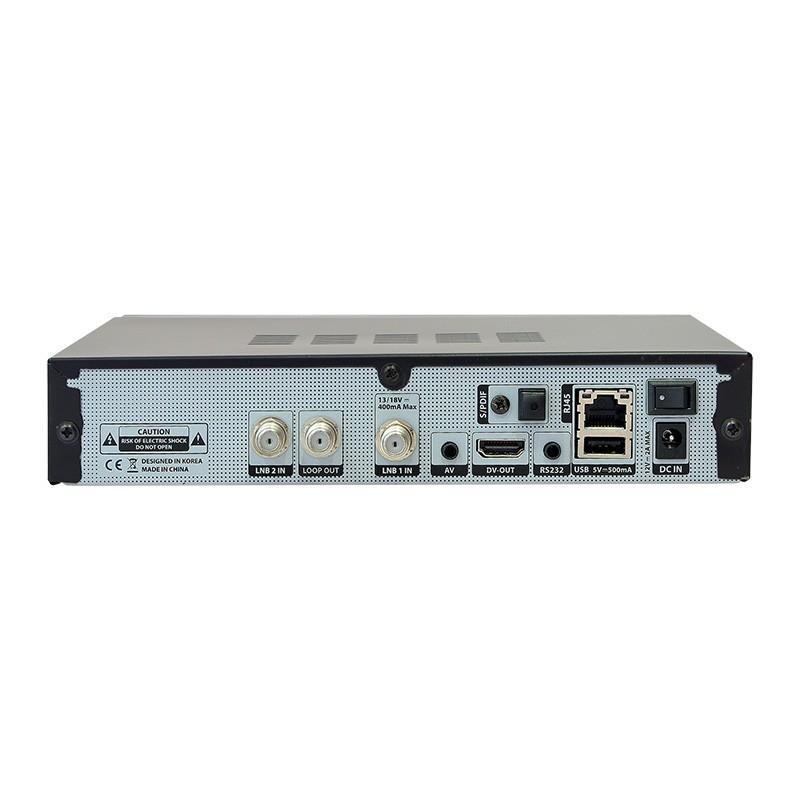 Edision OS mini Full HD Twin Satelliten-Receiver 2x DVB-S2 2x USB 2.0  LAN HDMI Linux Kartenleser WiFi Onboard inkl. HDMI Kabel
