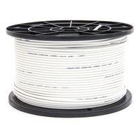 200m PremiumX Mini Koaxial Sat Kabel 4mm extra dünn Weiß Koax Antennenkabel 2-fach geschirmt für Sat | Kabel | DVB-T – Ultra HD 4K 3D